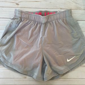 Nike Dri Fit shorts grey with coral pink layer